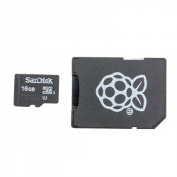 Original MicroSD Card 16 GB for Raspberry Pi 3 Model B+ and Raspberry Pi Zero, Preinstalled with NOOBs (bulk)