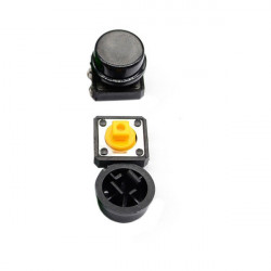 Black Button with Round Cover