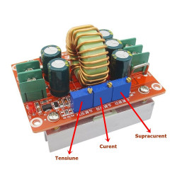 12 A Step-Down DC-DC Converter Module with Constant Current and Constant Voltage Functionality
