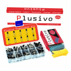 Plusivo BJT Transistors assortment Kit with Bonus Resistors