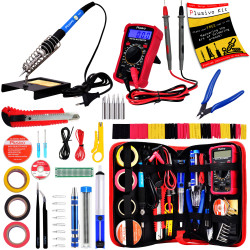 Plusivo Soldering Iron Kit with Digital Multimeter - EU Plug