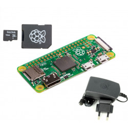 Raspberry Pi Zero + Power Supply + 16 GB Micro SD Card with NOOBS