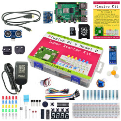 Plusivo Pi 4 Super Starter Kit with Raspberry Pi 4 with 1 GB of RAM and 32 GB sd card with NOOBs