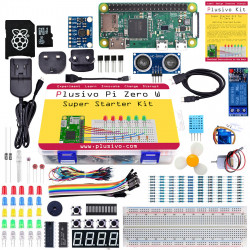 Plusivo Pi Zero W Super Starter Kit with Raspberry Pi Zero WH and 32 GB sd card with NOOBs