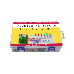 Plusivo Pi Zero W Super Starter Kit with Raspberry Pi Zero WH and 16 GB sd card with NOOBs