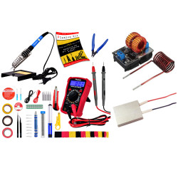 Plusivo Soldering Kit with Multimeter + Induction Heating Module + PTC Heating Element