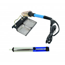 Adjustable Temperature Soldering Iron (60 W)+Desoldering Pump+Large Soldering Iron Stand