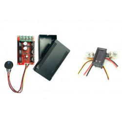 PWM DC Controller 40 A + Voltmeter and Amperemeter 0-100 V , 100 A with Shunt