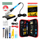 Plusivo Soldering Iron Kit for Electronics - EU Plug
