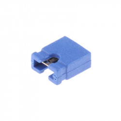 Blue 2.54 mm Jumper (open top)