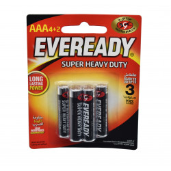 Eveready Battery Black AAA (4+2 Free)