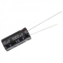 Electrolytic Capacitor 1000 uF, 16 V, 10x17 mm