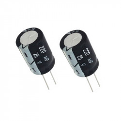 Electrolytic Capacitor 220 uF, 25 V, 6x11 mm