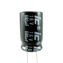 Electrolytic Capacitor 680 uF, 16 V, 8x12 mm