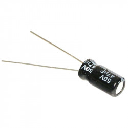 Electrolytic Capacitor 47 uF, 50 V, 6x11 mm