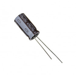 Electrolytic Capacitor 470uF, to 25V
