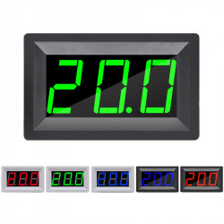 Green Thermometer with Black Case (-55 ~ 110 °C, 4.5 - 15 V)
