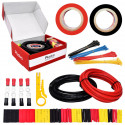Hookup Wire Kit (2 colors, 3 m each, AWG 12, Stranded Wire) Silicone Jacket