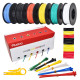 Hookup Wire Kit (6 colors, 10 m each, AWG 22, Solid Wire) PVC Jacket
