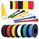 Hookup Wire Kit (6 colors, 9 m each, AWG 24 Stranded Wire) Silicone Jacket