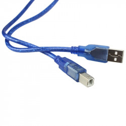 50 cm USB AM to BM Blue Cable for Arduino Mega and UNO