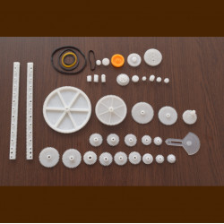 Gear, Pulley and Belt Set