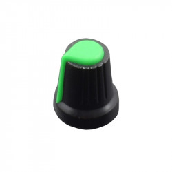 Colored Knob for Potentiometer (Black and Green)