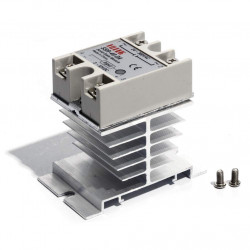 Solid State Relay (40 A, 24 - 380 VAC) with Cooling Heatsink