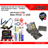 Plusivo Soldering Iron Kit for Electronics with Diagonal Cutter - EU Plug + Universal Toolbox (24 tools)