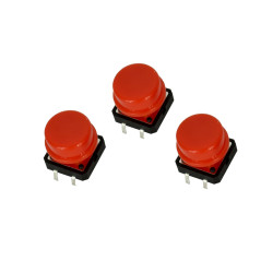 Red Button with Round Cover
