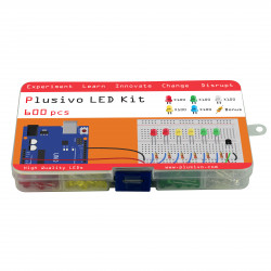 Plusivo 5mm Diffused LED Diode Assortment Kit (600pcs)