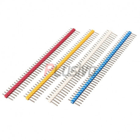 Colored 40p 2.54 mm Pitch Male Pin Header - Red