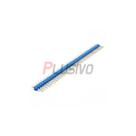 Colored 40p 2.54 mm Pitch Male Pin Header - Blue