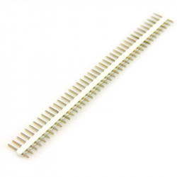 Colored 40p 2.54 mm Pitch Male Pin Header - White