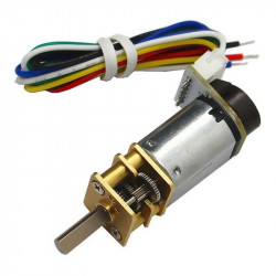 CGM12-N20VA-8200E Micro Gearmotor 1:150 with Encoder (6 V, 105 RPM)