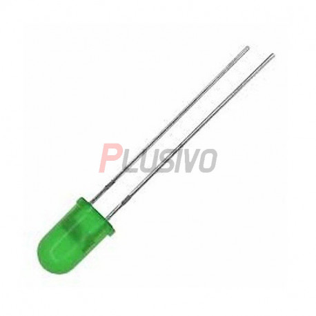5 mm Green LED with Difused Lens