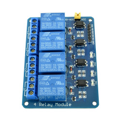 Blue Optoisolated 4 Relay Module