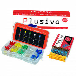 Plusivo 5 mm and 3 mm LED Assortment Kit (310 pcs) with Bonus Resistor Assortment Kit (250 pcs)